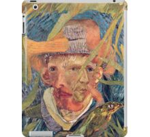 Van Gogh Laying in a Corn Field with Bullet Wound. iPad Case/Skin