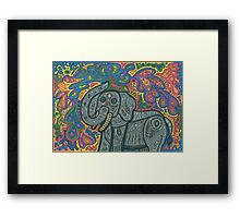 Playful Elephant Framed Print