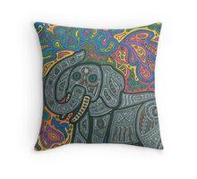 Playful Elephant Throw Pillow