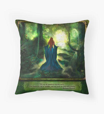 Daydreams Calendar - July Throw Pillow