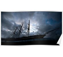 Cutty Sark at dusk Poster