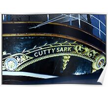 Cutty Sark, stern, nameplate Poster