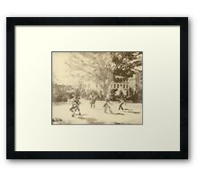 Polaroid Photo of Native American Dancers in Los Angeles Framed Print