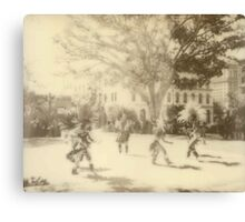 Polaroid Photo of Native American Dancers in Los Angeles Canvas Print