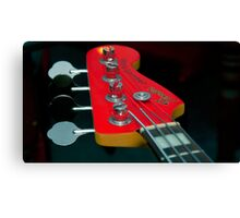 Indigo Yellow - Bass Guitar Canvas Print
