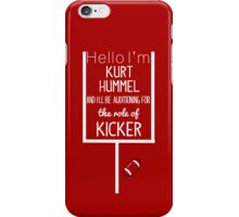 Kurt Hummel, Kicker iPhone Case/Skin