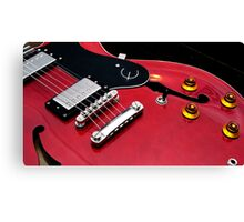 Indigo Yellow - Epiphone Guitar Canvas Print