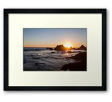 Sunset at El Matador Beach in Malibu, California Framed Print