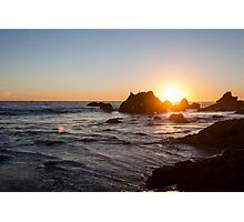 Sunset at El Matador Beach in Malibu, California Photographic Print