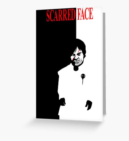 Scarred Face Greeting Card