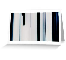 Blue Streaks Greeting Card