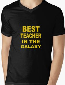 Best Teacher in the Galaxy Mens V-Neck T-Shirt