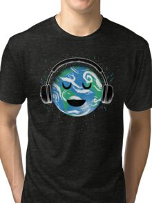 The whole planet loves music Tri-blend T-Shirt