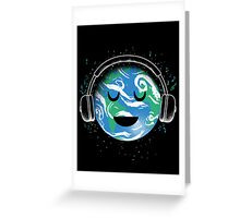 The whole planet loves music Greeting Card