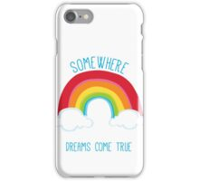 SOMEWHERE OVER THE RAINBOW art bright colourful iPhone Case/Skin