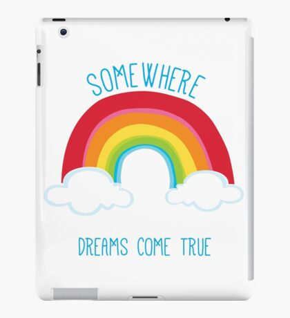 SOMEWHERE OVER THE RAINBOW art bright colourful iPad Case/Skin