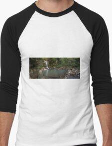 Curtis Falls Mt Tamborine Panorama Men's Baseball ¾ T-Shirt