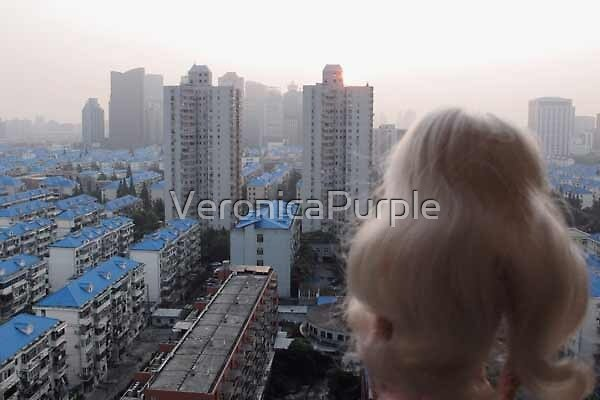 Shanghai blue roofs by VeronicaPurple