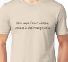 The sole purpose of a child's middle name, is so he can tell when he's really in trouble. Unisex T-Shirt