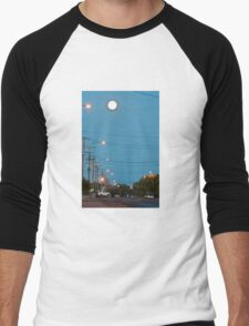 Moon over Lightning Ridge Men's Baseball ¾ T-Shirt