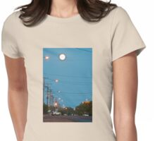 Moon over Lightning Ridge Womens Fitted T-Shirt