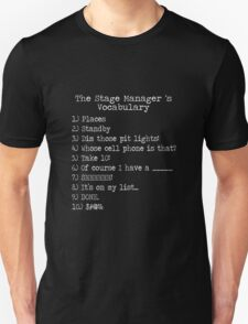 Stage Manager Vocabulary Unisex T-Shirt