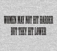 Women may not hit harder, but they hit lower. by SlubberBub