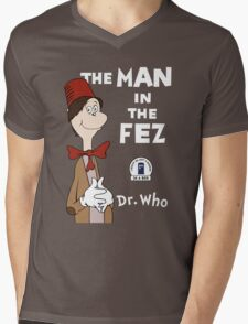 The Man In The Fez Mens V-Neck T-Shirt