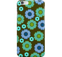 Green, blue and turquoise flowers iPhone Case/Skin