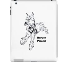 Berger Picard with Words iPad Case/Skin