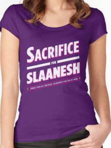 Sacrifice for Slaanesh - Damaged Women's Fitted Scoop T-Shirt