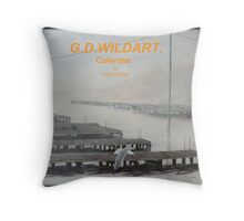 The docks Throw Pillow