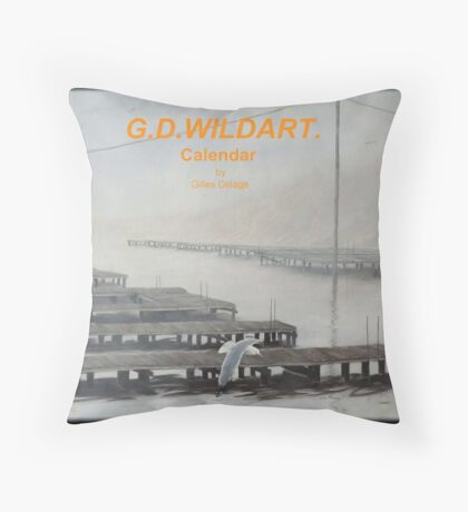 The docks Throw Pillow