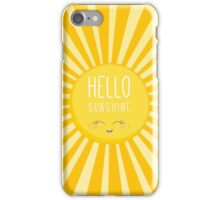 KIDS KAWAII - HAPPY SMILING SUN - HELLO SUNSHINE iPhone Case/Skin