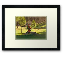 The Elf in the Field Framed Print