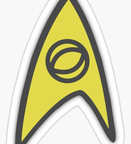 Starfleet insignia - science Sticker