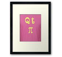QT PI Framed Print