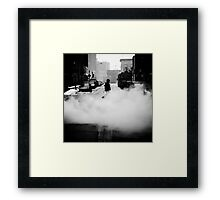 Surviving the Times Framed Print