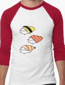 Sushi cats  Men's Baseball ¾ T-Shirt