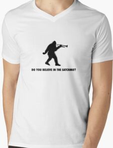 Do you believe in the Satchmo? Mens V-Neck T-Shirt