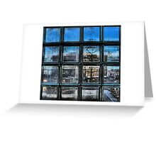 Stained Glass Blue Greeting Card