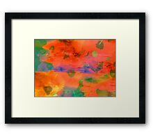 Splash of colors   Framed Print