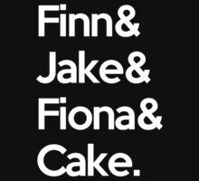 Finn Jake Fiona Cake by WaterMelanie