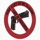 ☮ SAVE A LIFE SAY NO TO GUNS TEE SHIRT☮  by ╰⊰✿ℒᵒᶹᵉ Bonita✿⊱╮ Lalonde✿⊱╮