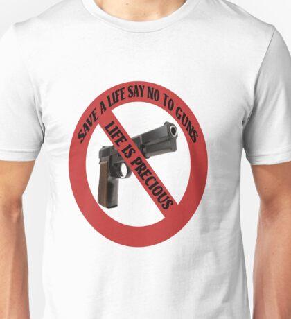 ☮ SAVE A LIFE SAY NO TO GUNS TEE SHIRT☮  Unisex T-Shirt