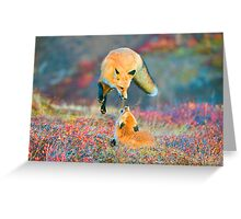 Foxes Playing Greeting Card