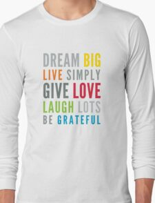 LIFE MANTRA positive cool typography bright colors Long Sleeve T-Shirt