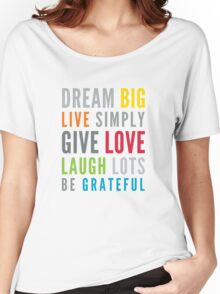 LIFE MANTRA positive cool typography bright colors Women's Relaxed Fit T-Shirt