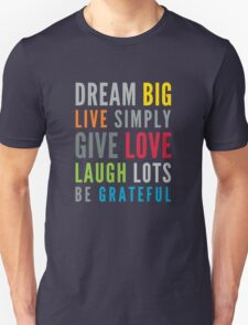 LIFE MANTRA positive cool typography bright colors Unisex T-Shirt