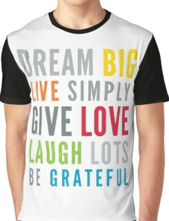 LIFE MANTRA positive cool typography bright colors Graphic T-Shirt
